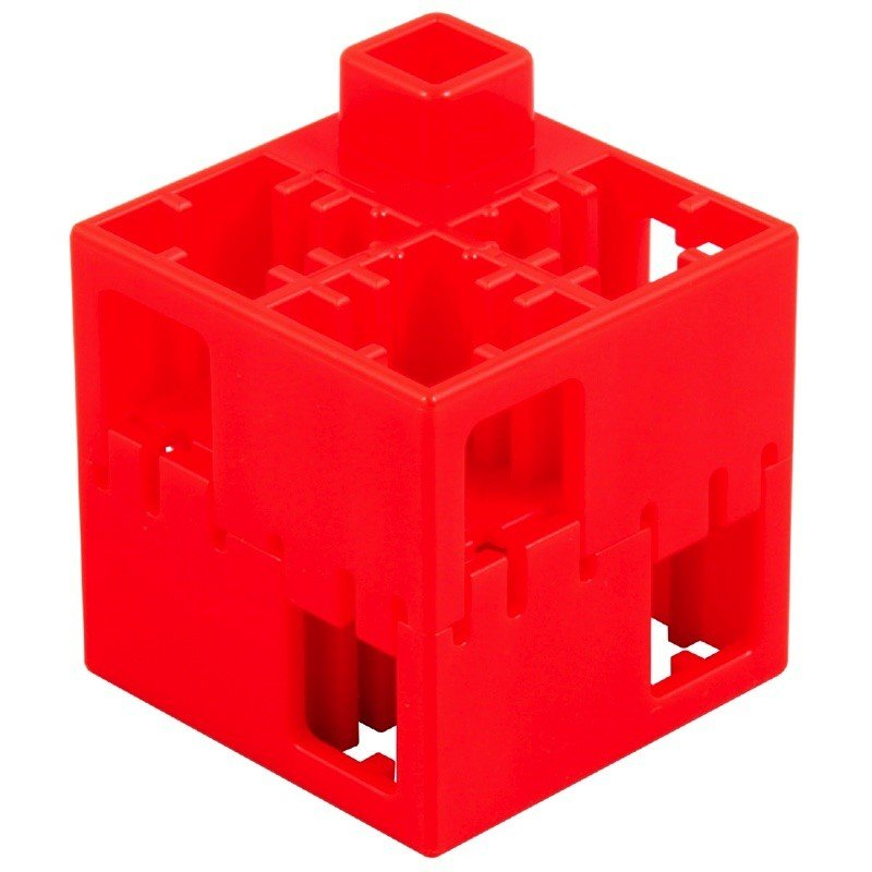 C・アーテックLブロック 四角 単色 100ピ−ス赤 頭がよくなるブロック