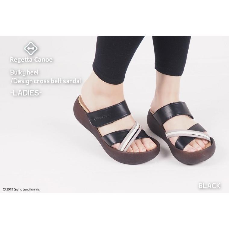 リゲッタ カヌー サンダル レディース  厚底 ウェッジソール クロス ベルト つっかけ 安定 履きやすい sandal 母の日 2021 プレゼント ギフト|gjweb|05
