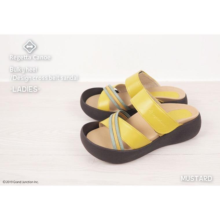リゲッタ カヌー サンダル レディース  厚底 ウェッジソール クロス ベルト つっかけ 安定 履きやすい sandal 母の日 2021 プレゼント ギフト|gjweb|06