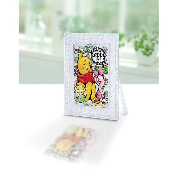 送料無料 クリアスタンドパズル 彩りの日 プーさん ディズニー 132ピース やのまん 2500-34 ジグソーパズル
