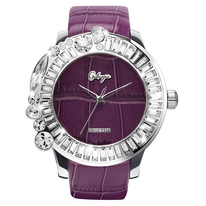 買い保障できる スワロフスキーのカラフルな腕時計 Galtiscopio(ガルティスコピオ) JOLI SIMPLE JS7 パープル レザーベルト, おしゃれ家電雑貨 citynet2 7cb84a8f