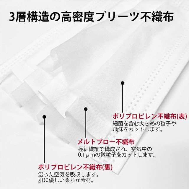 不織布マスク カラー 日本製 花粉症 プリントマスク 使い捨て サージカル 個包装 ノーズフィッター 男性用 メンズ 女性用 レディース 大人 メール便送料無料|glammyplus|06