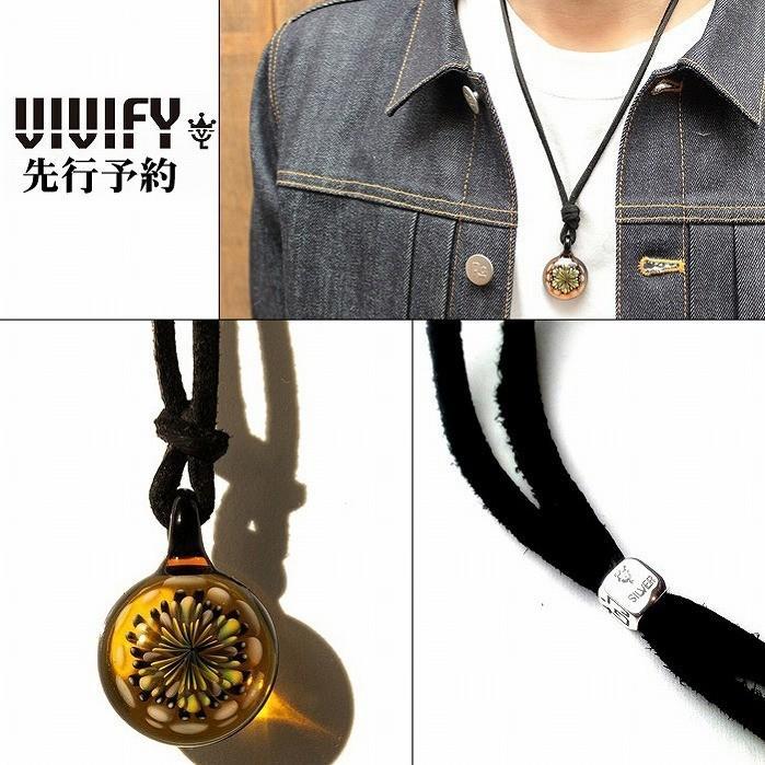 驚きの値段で ビビファイ VIVIFY ネックレス グラス ガラスFireworks 受注生産 Necklace(M) Leather Leather Necklace(M) 受注生産, ウケンソン:c6172ef7 --- airmodconsu.dominiotemporario.com