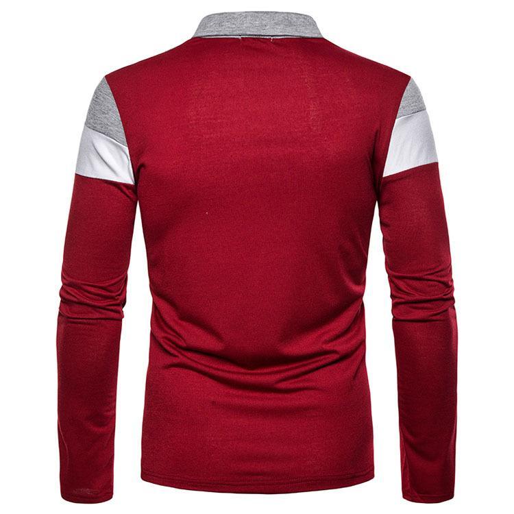 ポロシャツ メンズ トップス 大きいサイズ 長袖 ファッション 3色切り替え トレンド ゴルフウェア おしゃれ スポーツ 春秋 ゴルフ シャツ 紳士服 カジュアル 3色|glanz-shop|11