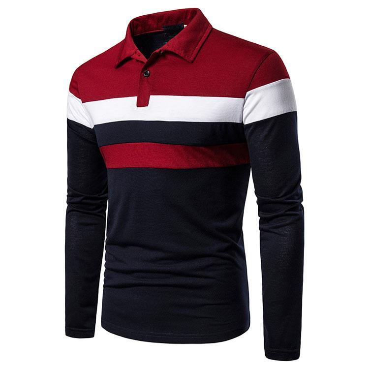ポロシャツ メンズ トップス 大きいサイズ 長袖 ファッション 3色切り替え トレンド ゴルフウェア おしゃれ スポーツ 春秋 ゴルフ シャツ 紳士服 カジュアル 3色|glanz-shop|05