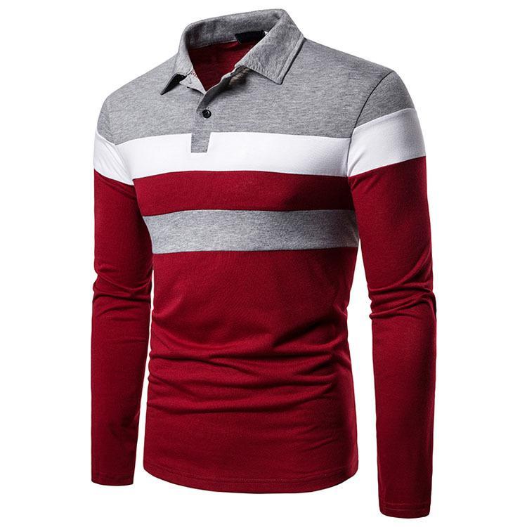 ポロシャツ メンズ トップス 大きいサイズ 長袖 ファッション 3色切り替え トレンド ゴルフウェア おしゃれ スポーツ 春秋 ゴルフ シャツ 紳士服 カジュアル 3色|glanz-shop|10