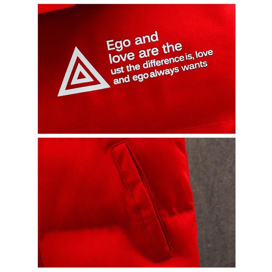 ダウンベスト メンズ プリント 中綿 キルティング ベスト 袖なし フード付き ジャケット おしゃれ 男性 アウター デザイン ファッション 秋冬人気 防寒防風保温|glanz-shop|11