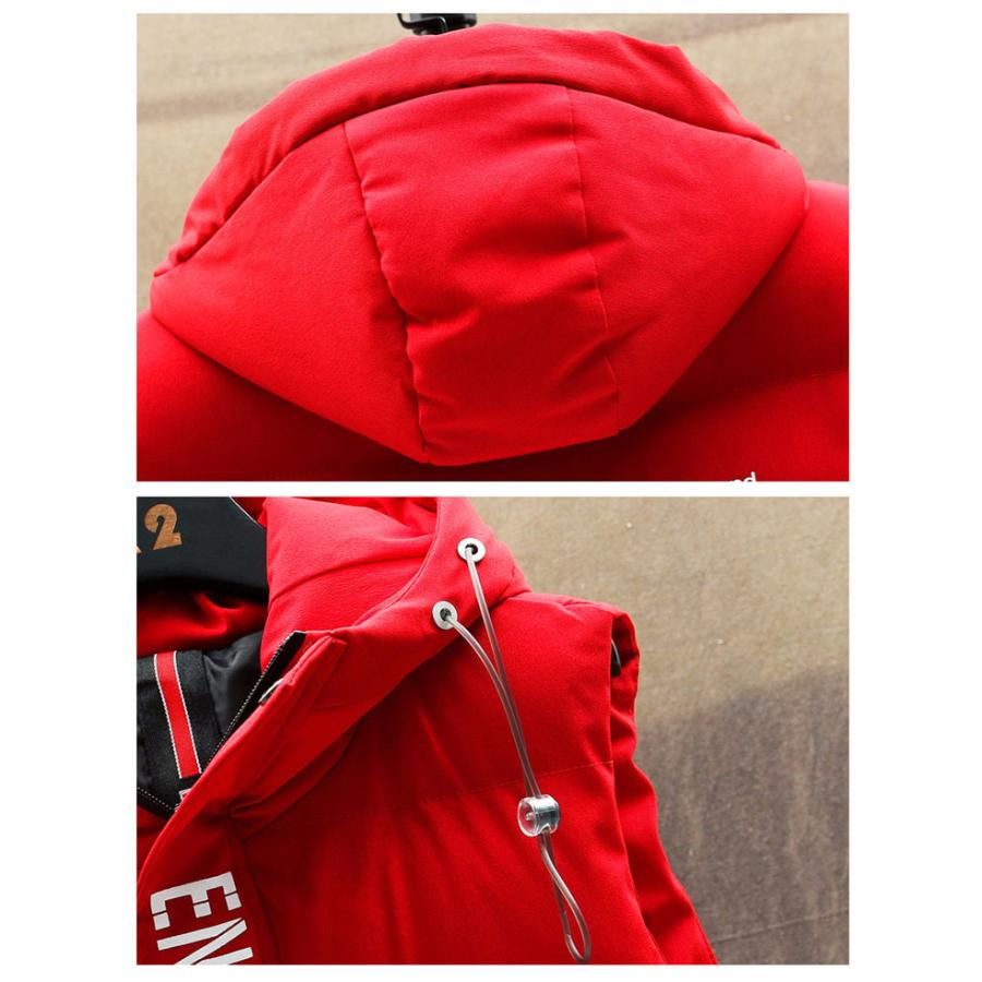 ダウンベスト メンズ プリント 中綿 キルティング ベスト 袖なし フード付き ジャケット おしゃれ 男性 アウター デザイン ファッション 秋冬人気 防寒防風保温|glanz-shop|10
