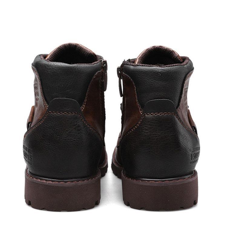 マーチンブーツ メンズ シューズ 靴 PU革 メンズファッション ワークブーツ ハイカット ブーツ 紳士靴 復古 英国風 アウトドア カジュアルシューズ 秋冬 新作|glanz-shop|07