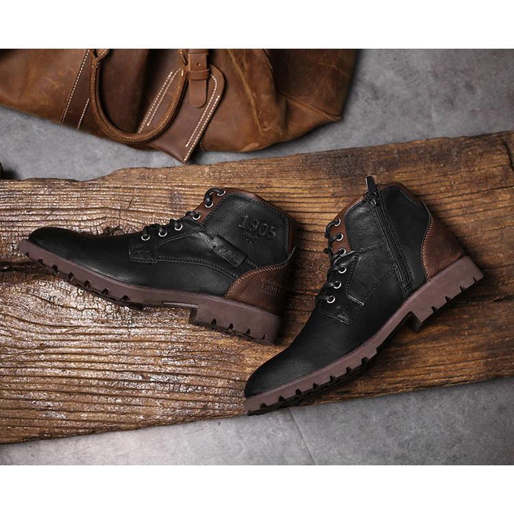 マーチンブーツ メンズ シューズ 靴 PU革 メンズファッション ワークブーツ ハイカット ブーツ 紳士靴 復古 英国風 アウトドア カジュアルシューズ 秋冬 新作|glanz-shop|09