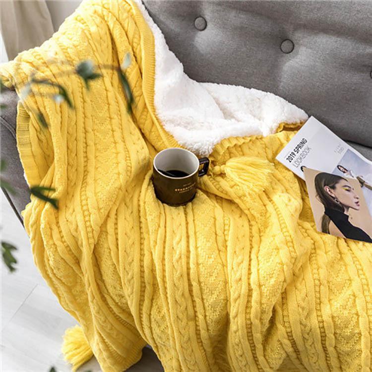 かわいい ブランケット 大判 ひざ掛け 北欧 ポンポン フリンジ毛布シングル ベッドカバー ダブル布団カバー おしゃれ ボンボン ソファーカバー 白 タオルケット glanz-shop 12