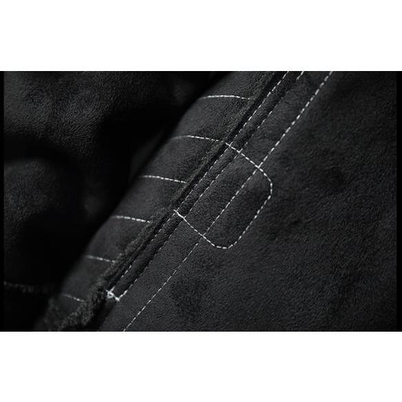 ライダースジャケット メンズ 裏ボア スエード 裏起毛 ボアジャケット カッコイイ アウター コート 革ジャン ライダース 厚手 防風 防寒 冬物 おしゃれ|glanz-shop|11