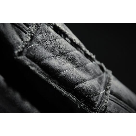 ライダースジャケット メンズ 裏ボア スエード 裏起毛 ボアジャケット カッコイイ アウター コート 革ジャン ライダース 厚手 防風 防寒 冬物 おしゃれ|glanz-shop|13
