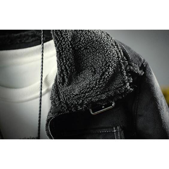 ライダースジャケット メンズ 裏ボア スエード 裏起毛 ボアジャケット カッコイイ アウター コート 革ジャン ライダース 厚手 防風 防寒 冬物 おしゃれ|glanz-shop|07