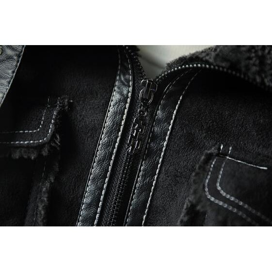 ライダースジャケット メンズ 裏ボア スエード 裏起毛 ボアジャケット カッコイイ アウター コート 革ジャン ライダース 厚手 防風 防寒 冬物 おしゃれ|glanz-shop|09