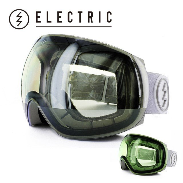 エレクトリック ゴーグル ELECTRIC EG3 白い TROPIC CLEAR/銀 CHROME EG6214104_CSRC アジアンフィット ヘルメット対応 2014・2015モデル スノーボード