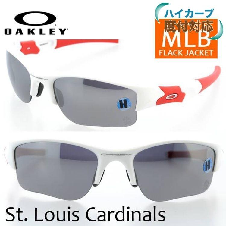 オークリー サングラス OAKLEY フラックジャケット 24-072 FLAK JACKET XLJ St. Louis Cardinals / 黒 Iridium MLB レギュラーフィット