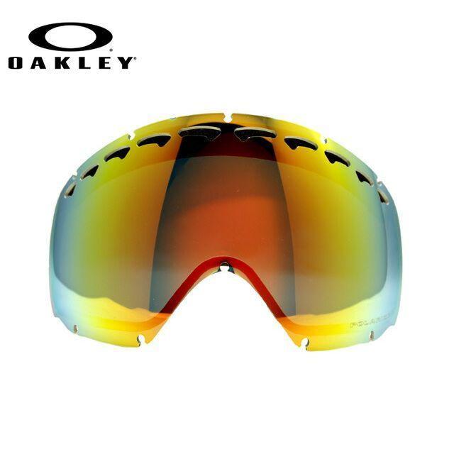 OAKLEY オークリー Crowbar 01-043 Fire Iridium Polarized 偏光 交換用レンズ ゴーグル スキー スノーボード ウィンタースポーツ