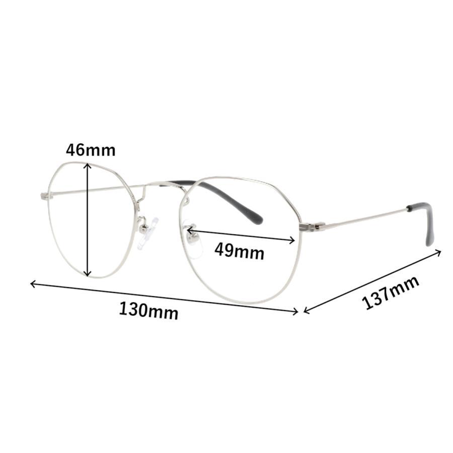 GG eye wear ブルーライトカット 眼鏡 PCメガネ UVカット 紫外線 おしゃれ レディース 超軽量 ボストン 軽い メタル スリム 伊達メガネ 3008|glass-garden|05