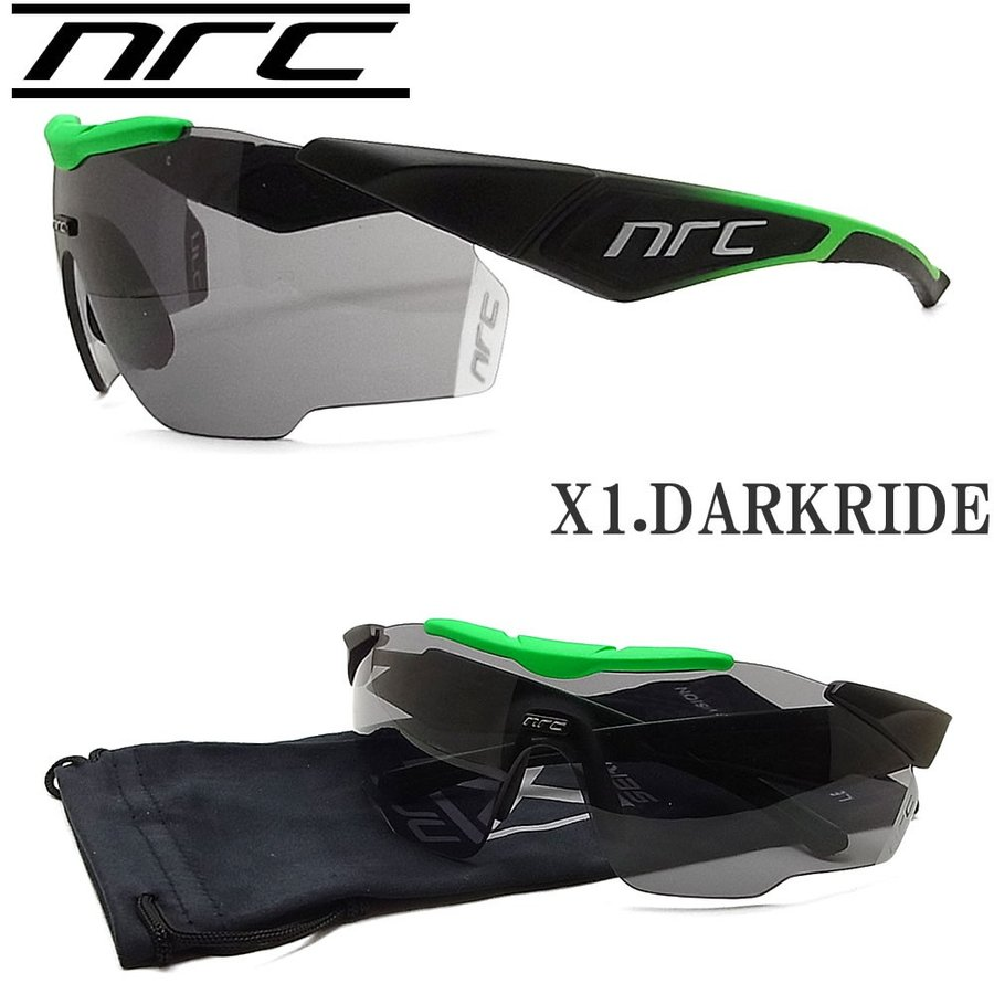 NRC エヌアールシー サングラス X1.DARKRIDE スポーツ ランニング サイクル ロードバイク アウトドア ZWISSレンズ