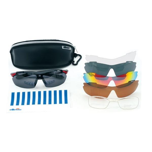 エレッセ スポーツサングラス ES-S108 度付き対応 インナーフレーム メンズ 偏光レンズ 交換レンズ5枚 ゴルフ  マラソン ランニング サイクリング 送料無料|glass-splash|03