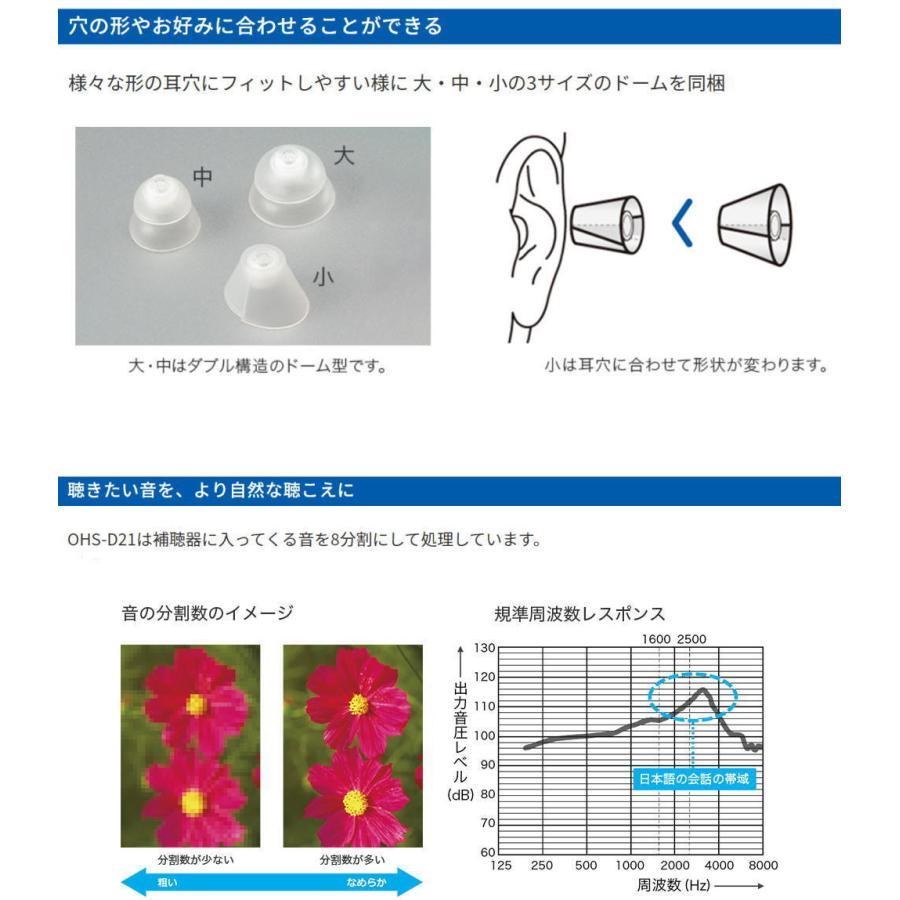 補聴器耳あな型 軽度〜中度難聴用 ONKYO オンキョー デジタル補聴器 耳あな型 両耳セット|glasscore|03