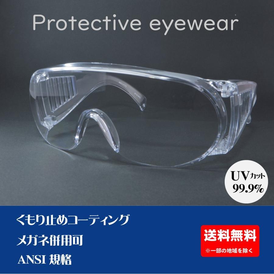 ウイルス対策 グッズ 飛沫対策 花粉対策 花粉メガネ 紫外線カット UVカット コロナウイルス対策 保護メガネ メガネ 透明 くもり止め 予防 医療 粉じんメガネ