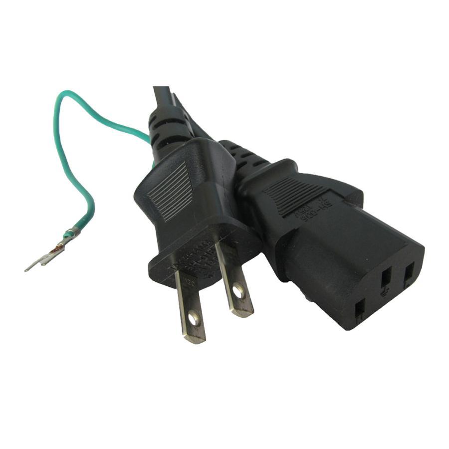 電源ケーブル IEC-106-3m 平2ピン+アース端子 globalmart