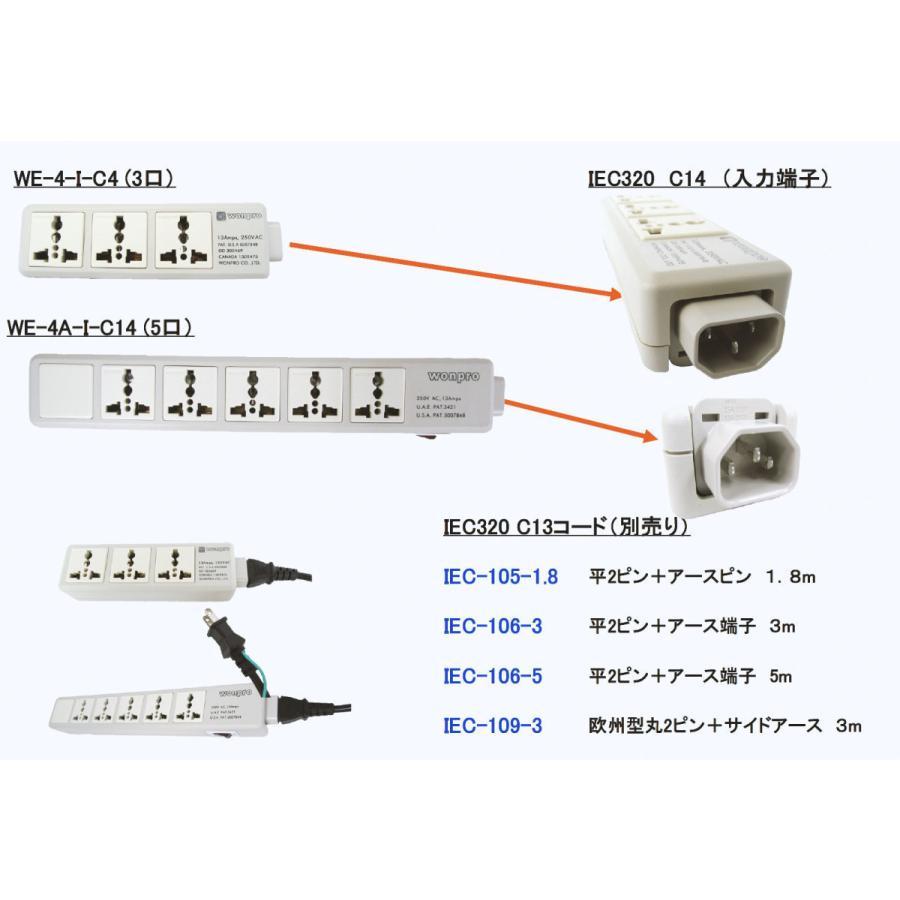 電源ケーブル IEC-109-3m 欧州型丸2ピン+サイドアース globalmart 02