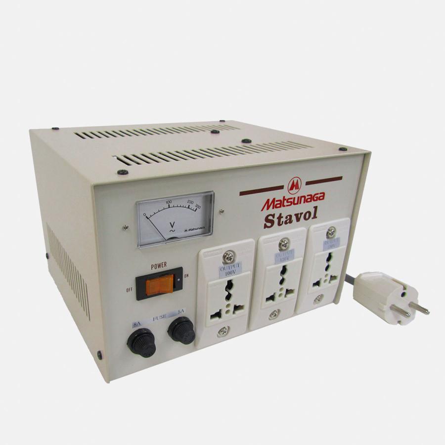 SVC-1000N-J 安定化機能付き 変圧器 (AVR)|globalmart