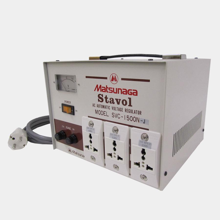 SVC-1500N-J 安定化機能付き 変圧器 (AVR) globalmart