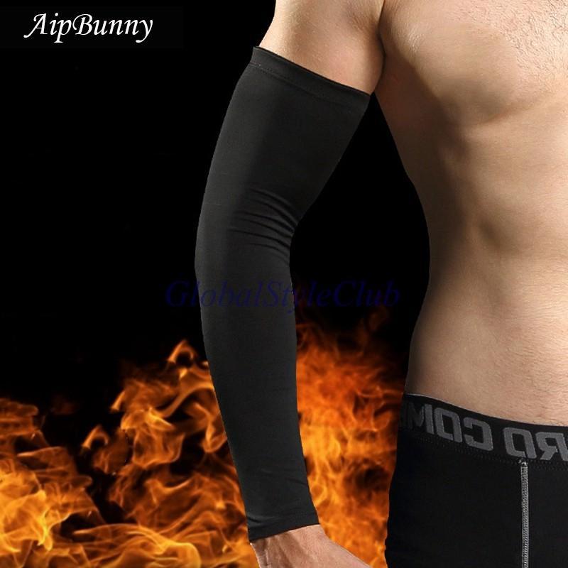 2ピースカシミヤ暖かい袖スポーツ安全なフィットネス冬着用通気性圧縮肘パッドプロテクター用バスケットボールハイキング