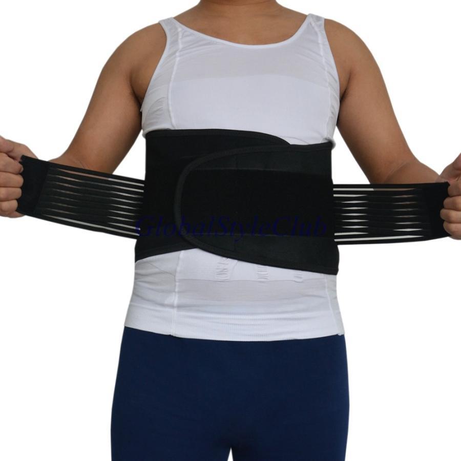 アジャスタブ運動ベルト男性女性重量バックブレーススポーツ腰サポート安全ジムベルトバックプロテクター-4
