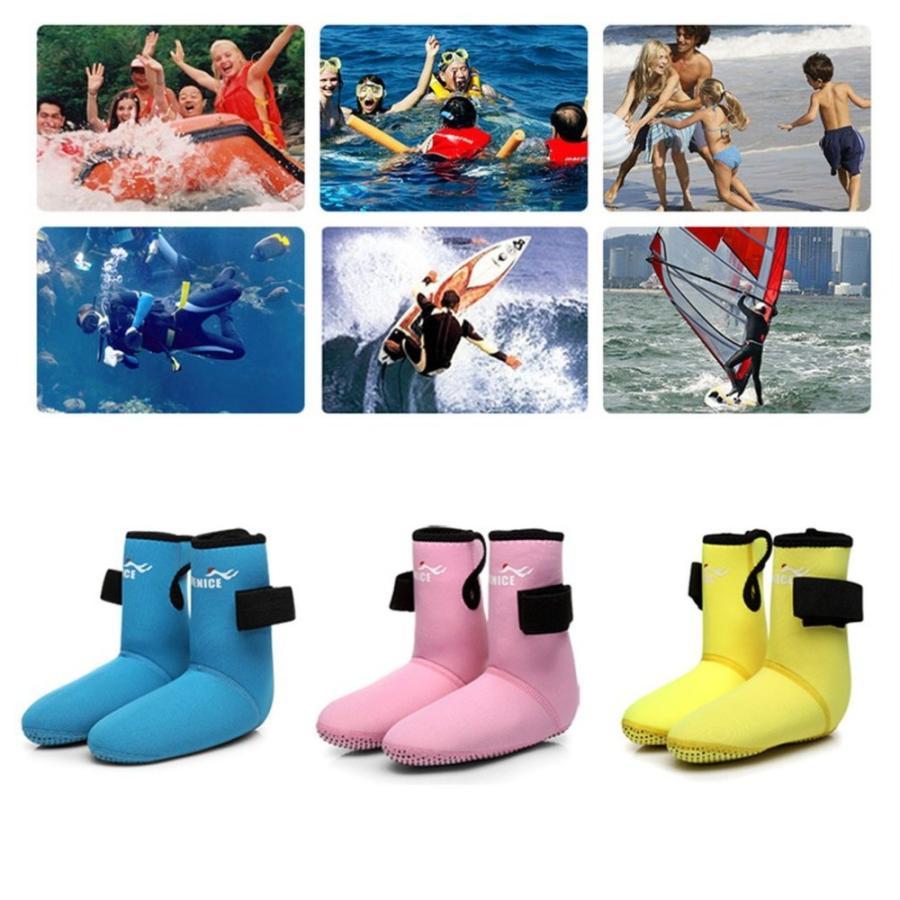 子供ダイビングフィンソックス耐摩耗シュノーケリング靴ダイビング靴下ビーチブーツウェットスーツ防ぐスクラッチ非スリップ熱い販売