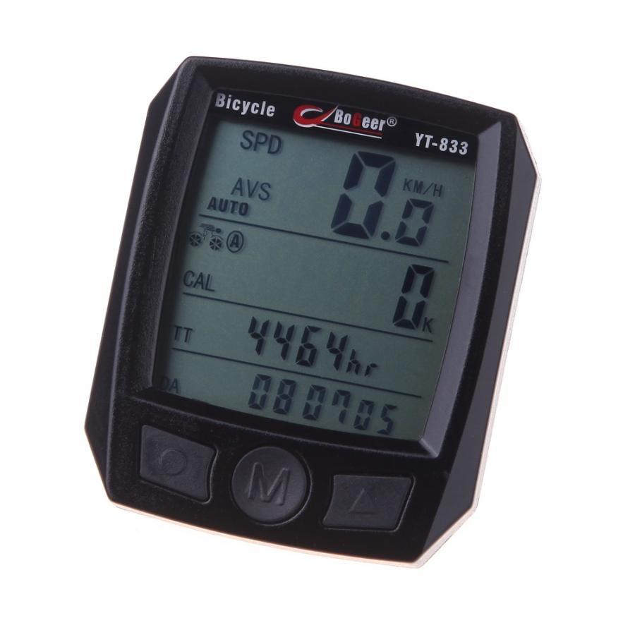 サイクリングコンピュータ輸入さセンサー防水液晶バックライト付き自転車スピードメーター走行距離バイクコンピュータカレンダーストップウォッチ