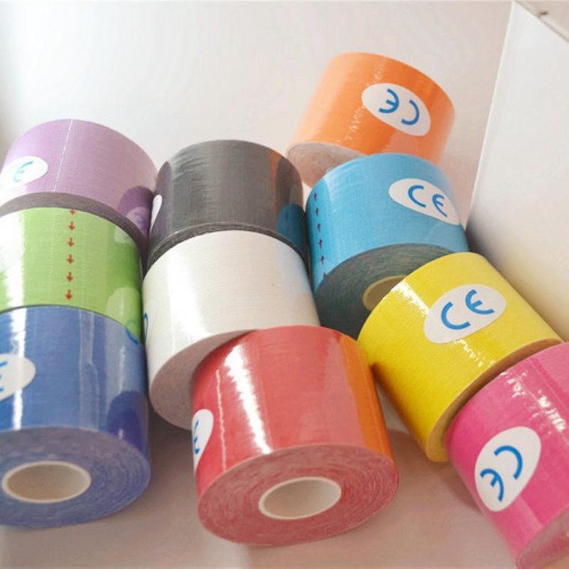 1ロールキネシオロスポーツジム筋肉テープ粘着綿弾性包帯治療ケアフィジオひずみ傷害サポート5メートル× 5センチ