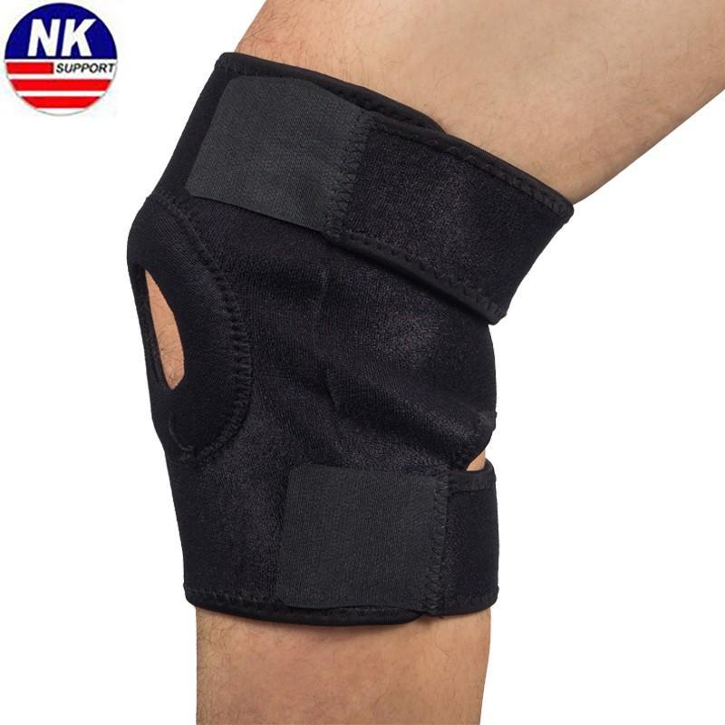 サポート調節可能な弾性膝サポート穴スポーツニーパッドブレースニーパッド膝蓋骨膝パッド安全ガードを実行するため
