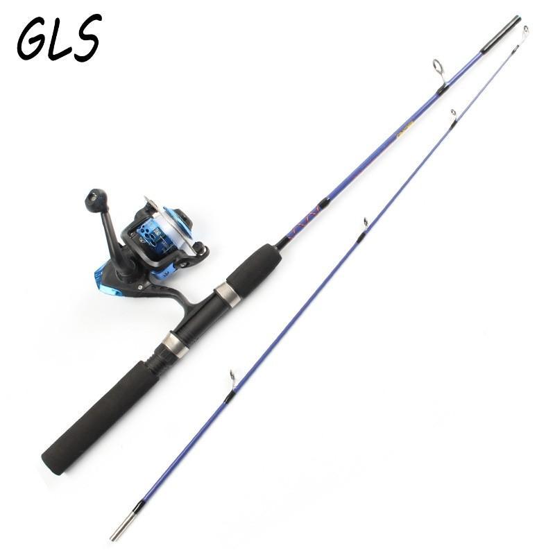 2先端スピニングポータブル氷釣りロッド1.2メートル/1.5メートルルアー釣りロッドと釣りリールとライン釣りスーツの組み合わせ