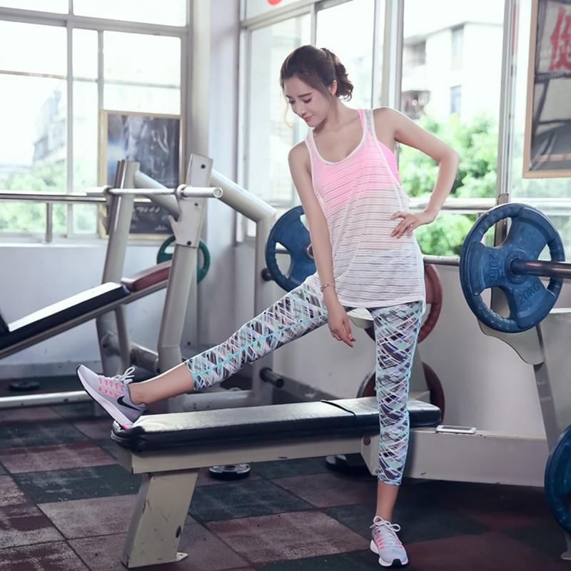 パティ両方女性速乾性ヨガタンクトップ女性のジムランニングスポーツのベストワークアウト衣装ネット布通気性スポーツウェア