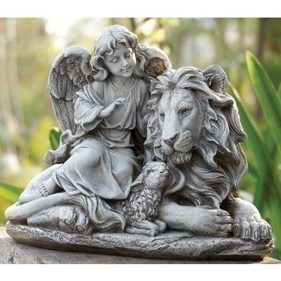 ガーデン天使/エンジェルとライオン&子羊