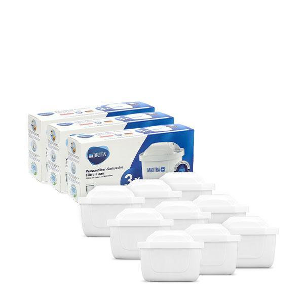 ブリタ Brita マクストラプラス カートリッジ 9個セット 1025356 Maxtra Plus Pack 3 浄水器 整水器|glv