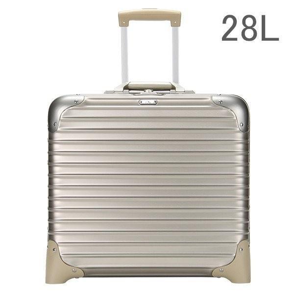 【5%還元】【あすつく】リモワ トパーズ チタニウム ビジネストロリー チタンゴールド (シャンパンゴールド) スーツケース 2輪 28L