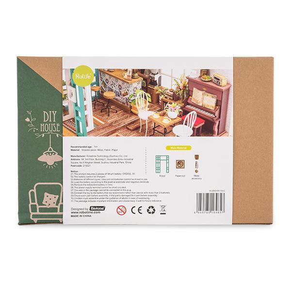 【GWもあすつく】 Robotime ミニチュアハウス ドールハウス サイモンズコーヒー DG109 ロボタイム DIY 組み立てキット|glv|10