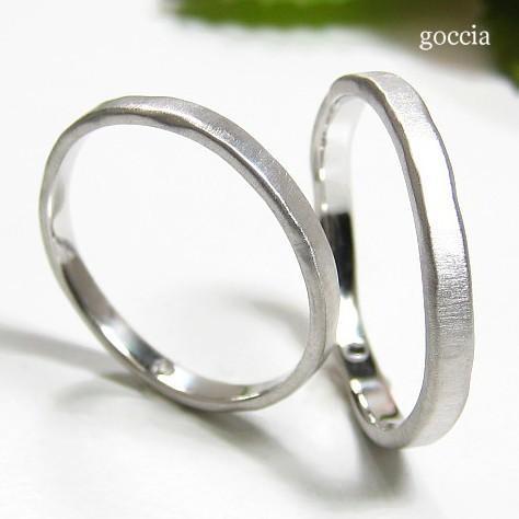 ナチュラルな結婚指輪。ハードプラチナ900の自然(Natural)|goccia