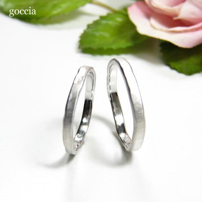 ナチュラルな結婚指輪。ハードプラチナ900の自然(Natural)|goccia|02