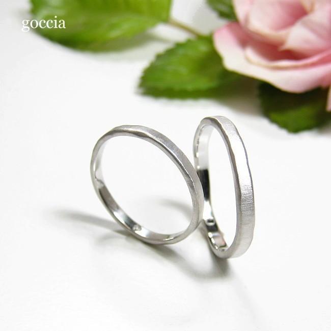 ナチュラルな結婚指輪。ハードプラチナ900の自然(Natural)|goccia|03