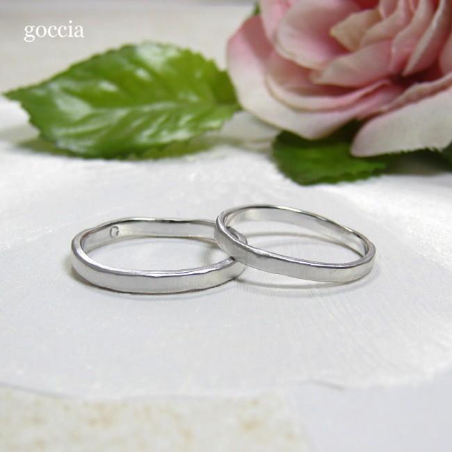 ナチュラルな結婚指輪。ハードプラチナ900の自然(Natural)|goccia|04