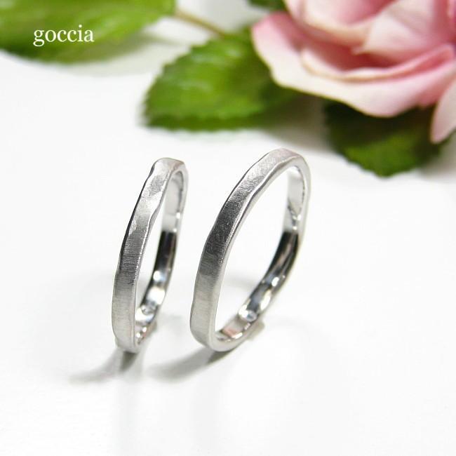 ナチュラルな結婚指輪。ハードプラチナ900の自然(Natural)|goccia|05