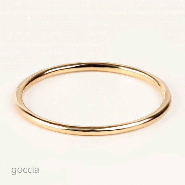 極細リング 18金 スキニーリング foxy|goccia|02