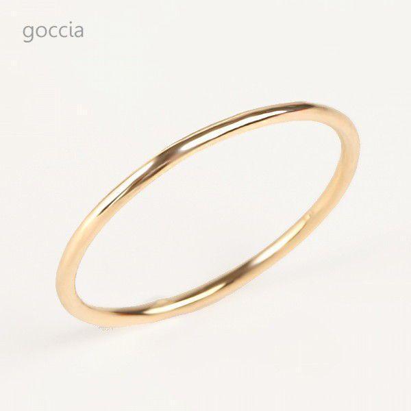 極細リング 18金 スキニーリング foxy|goccia|03